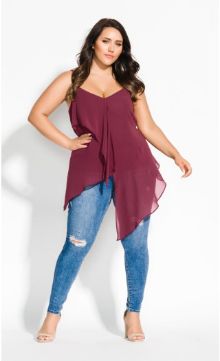 Ruffle Me Top - nutmeg