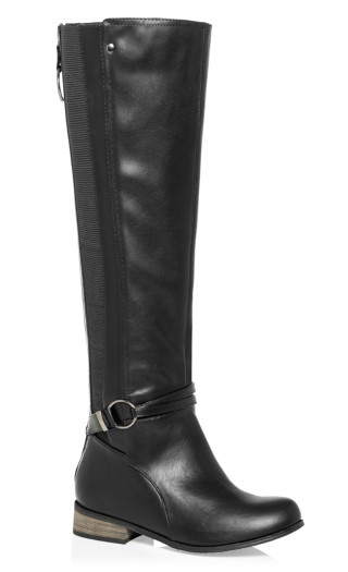Phoebe Knee High Boot - black