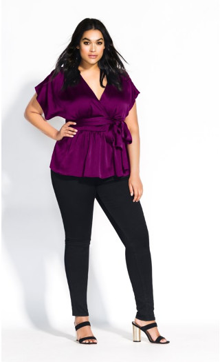 Tangled Top - cerise