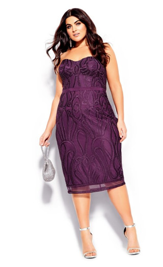 Antonia Dress - mulberry