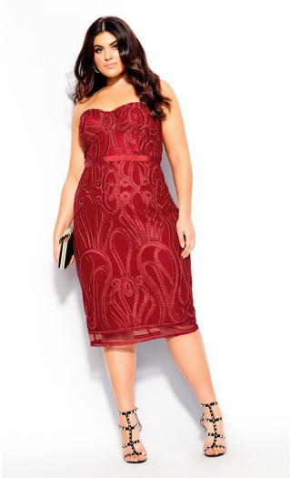 Antonia Dress - red