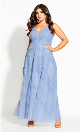 Divine Whimsy Maxi Dress - powder