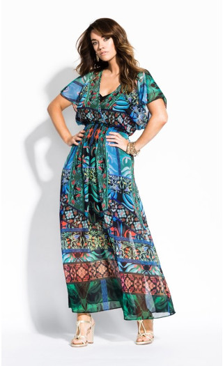 Tangier Maxi Dress - black