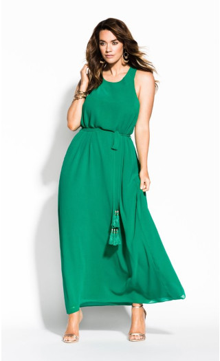 Halter Bliss Maxi Dress - green