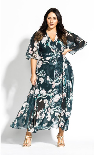 Fresh Fields Maxi Dress - emerald