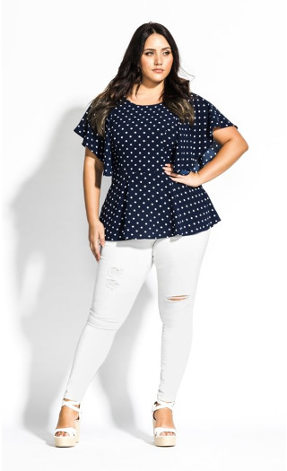 Fresh Spot Top - navy