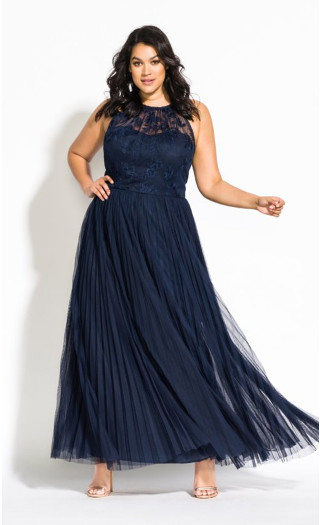 Angelic Maxi Dress - navy