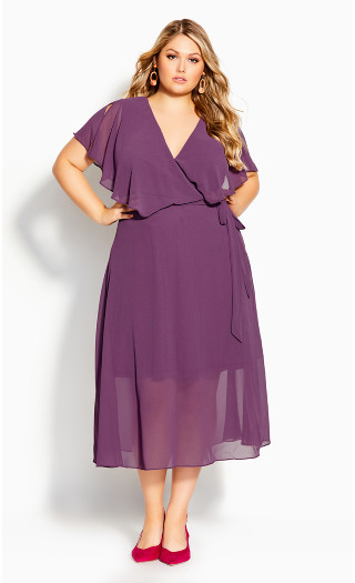 Softly Tied Dress - orchid