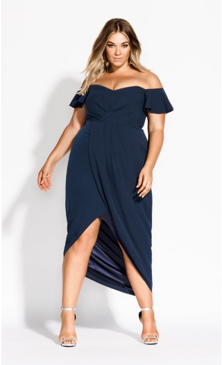 Aflutter Maxi Dress - navy