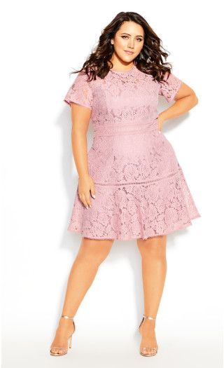 Lace Ravish Dress - rosebud