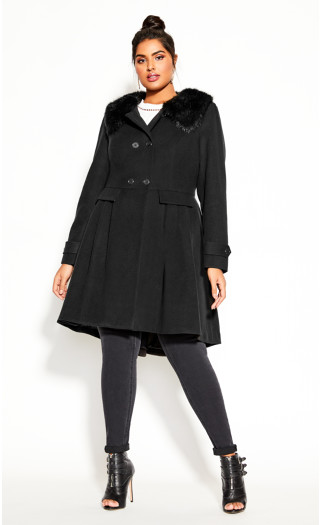 Grandiose Coat - black