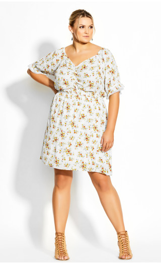 Amber Ditsy Dress - ivory