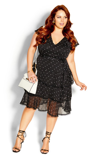 Summer Spot Dress - black