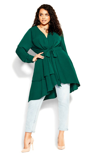 Soft Touch Tunic - sea green