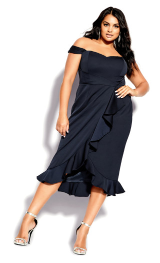 Hypnotize Dress - navy