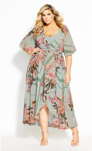 Sierra Scarf Maxi Dress - sage