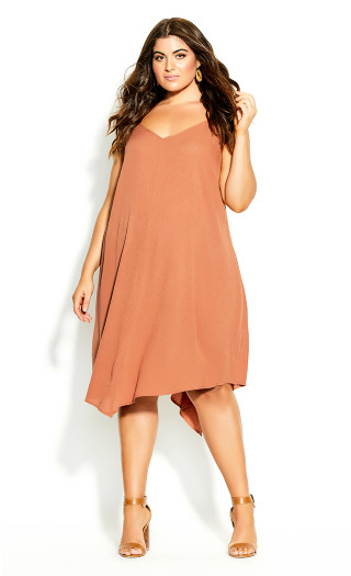 Summer V Dress - tawny