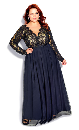 Rare Beauty Maxi Dress - navy