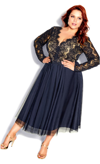 Rare Beauty Dress - navy