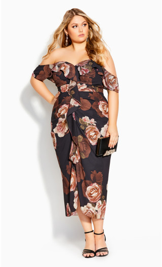 Rose Seduction Dress - black