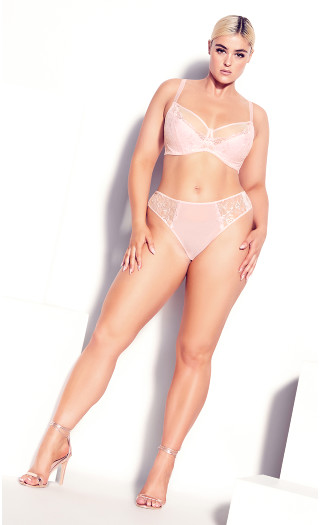 Duet Strappy Panty - soft pink