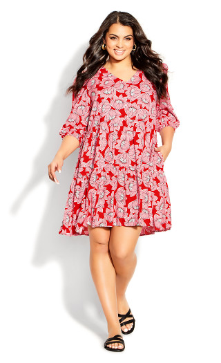 To The Max Mini Dress - pink floral