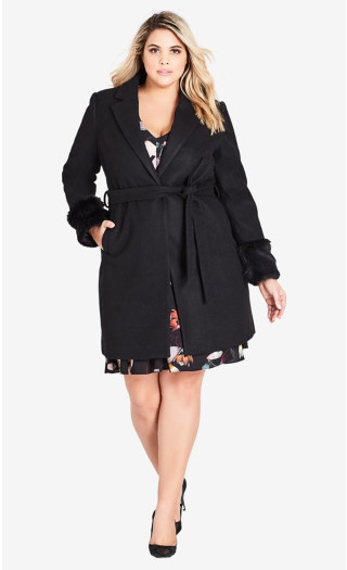 Fluffe Coat - black