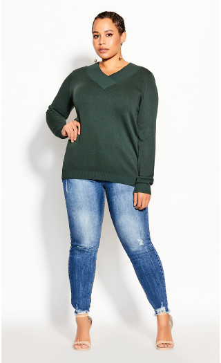 Sweet Love Sweater - evergreen
