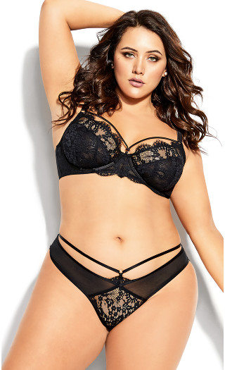 Delores Underwire Bra - black