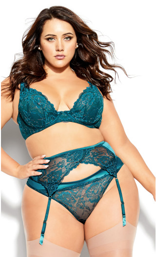 Abby Garter Belt - teal