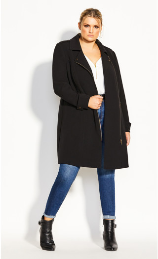 Urban Chic Coat - black