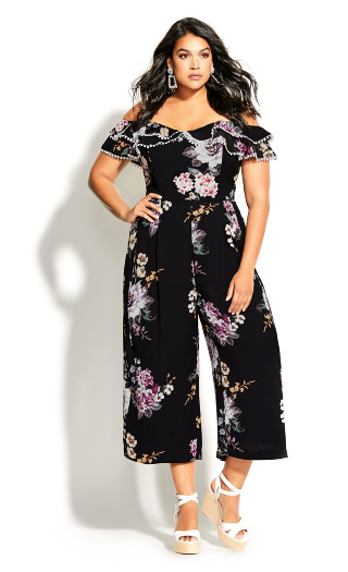 Love Blooms Jumpsuit - black