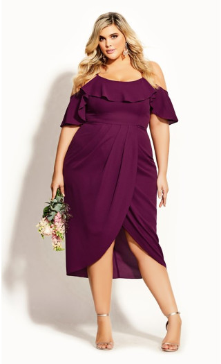 Flirtation Dress - cerise