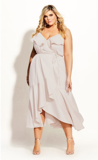 Ruffle Amore Maxi Dress - gardenia