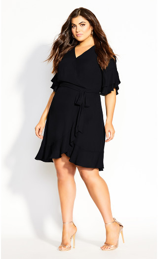 Flutter Me Dress - black