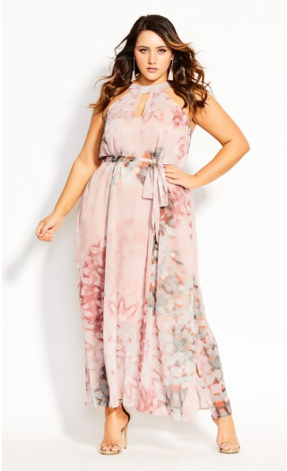Illusions Maxi Dress - shell