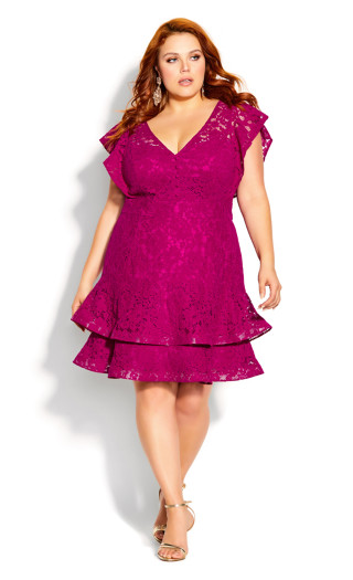 Sienna Dress - framboise