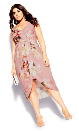 English Bouquet Dress - blush