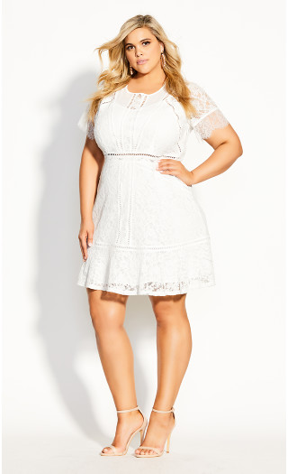 Lace Blossom Dress - ivory