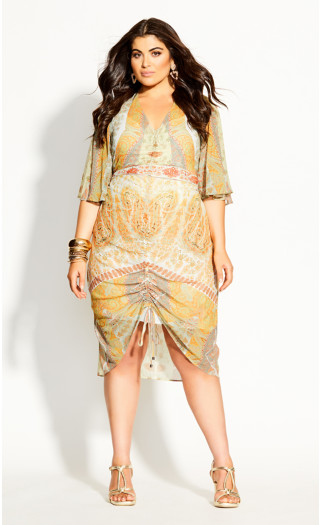Togo Mirror Dress -  lime