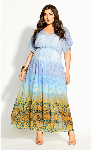 Shanika Mirror Maxi Dress - sky