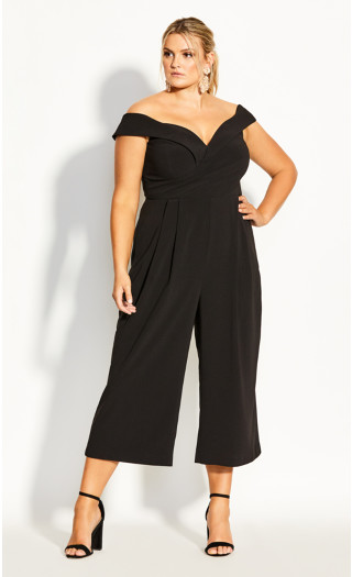 Ripple Love Jumpsuit - black