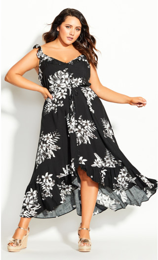 Paros Maxi Dress - black