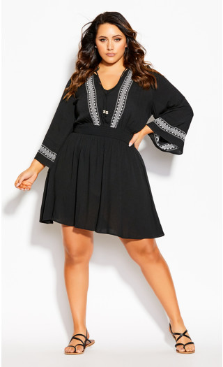 Heart Stitch Tunic - black