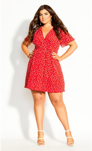 Blossom Rain Dress - red