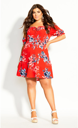 Tie Paris Dress - red