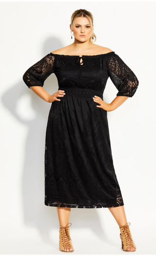Precious Detail Dress - black