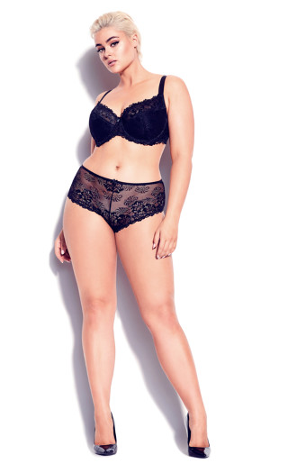 Cosette Lace Demi Bra - black