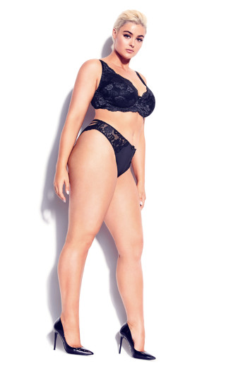 Darcie Strappy Lace Panty - black
