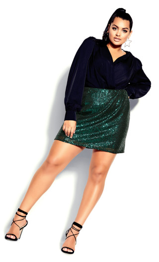 Razzle Skirt - emerald
